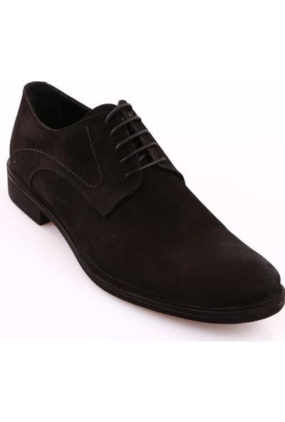 Dgn 1237 Erkek Termo Taban Bağcıklı Klasik Ayakkabı Siyah Nubuk