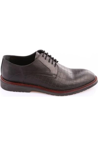 Dgn 2273-2 Erkek Eva Taban Lazerli Klasik Ayakkabı Siyah
