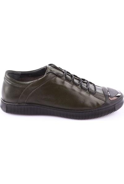 Dgn 3256 Erkek Çapraz Bağlı Casual Ayakkabı Haki Yakma