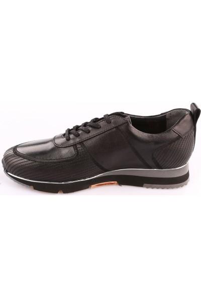Dgn 3290 Erkek Eva Taban Dikişli Sneakers Ayakkabı Siyah Yakma
