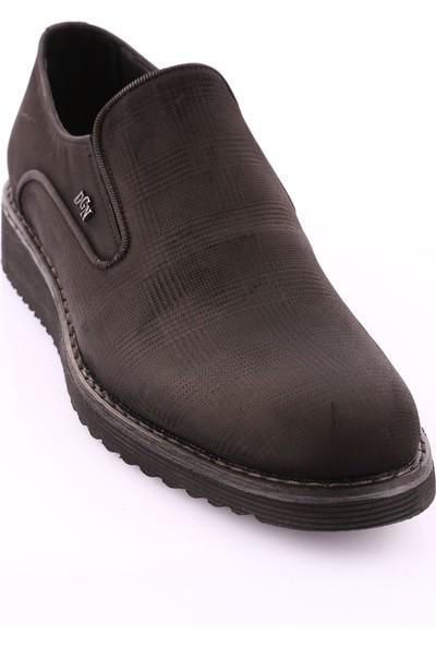 Dgn 3310-1 Erkek Eva Taban Kare Klasik Ayakkabı Siyah Nubuk