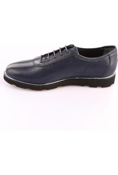 Dgn 3315 Erkek Nikel Çizgili Eva Taban Bağcıklı Casual Ayakkabı Laci Yakma