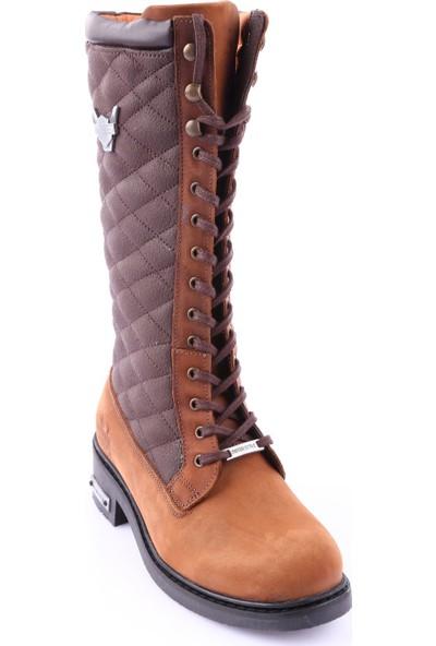 Ricardo Colli 7083 Kadın Knee High Kapitone Çizme Kum Crazy