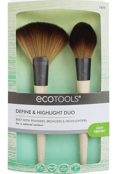 Ecotools Define&Highlight Duo Makyaj Fırça Seti