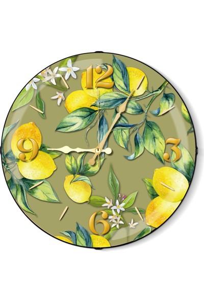 The Mia Duvar Saati - Limon Yeşil 35 Cm