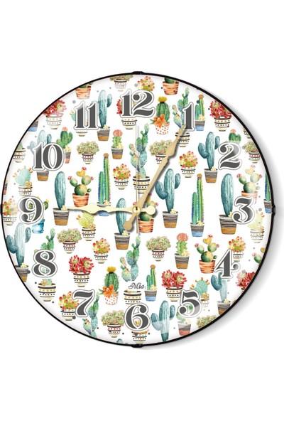 The Mia Duvar Saati - Cactus A 35 Cm