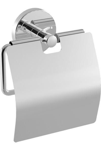 Duxxa Natural Krom Kapaklı Tuvalet Kağıtlık