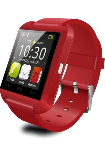 Wotechs U8 Plus Android ve iPhone Uyumlu Akıllı Saat - Kırmızı