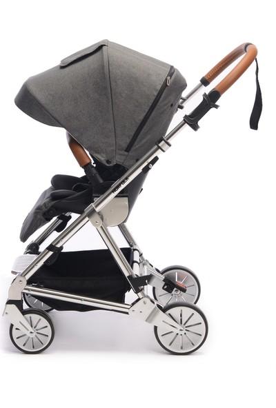Norfolk Baby Prelude Special Edition Air Luxury Çift Yönlü Bebek Arabası Gri - B07HP311YK