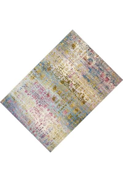 Cici Halı Alaca Eskitme Desenli Dekoratif Halı-80x150