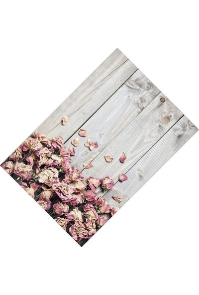 Cici Halı Tahta Zemin Kuru Gül Yapraklar Dekoratif Halı-160x230