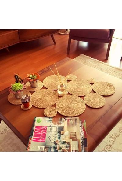 Homever Seasy Hasır Halat Masa Örtüsü / Runner