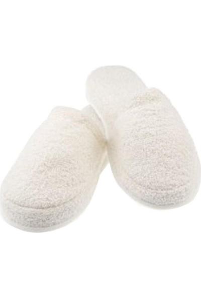 Elite Lohusa Terliği Boş Süssüz Kaymaz Taban Esnek Havlu Kumaş 39-40 Numara Beyaz
