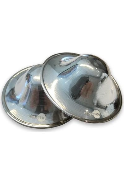 Nipplease Parlak Gümüş Göğüs Ucu Kapağı