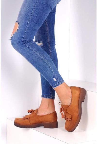 Pembe Potin Taba Kadın Ayakkabı