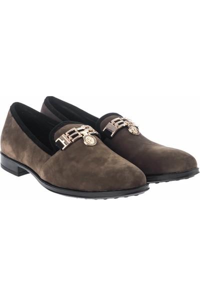 Pembe Potin Haki Nubuk Kadın Ayakkabı