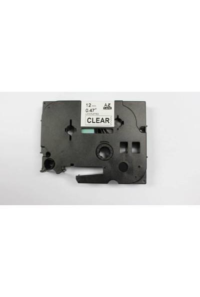 Brother P Touch Tz Tape 18Tze241 Beyaz Etikete Siyah 18Mm 8M