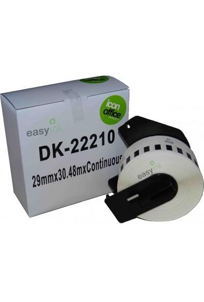 Brother P Touch Dk Serisi Dk22210 Sürekli Etiket 29Mm 30 48M