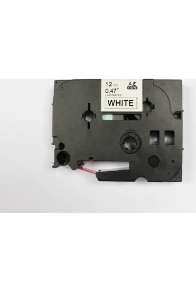 Brother P Touch Tz Tape 12Tze232 Beyaz Etikete Kırmızı 12Mm 8M