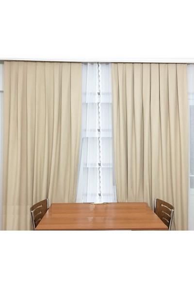 Evsa Home Blackout Karartma Güneşlik Perde Pilesiz V - 5 Bej - 100x200 cm