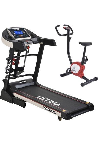 Ultima DC-4000 Otomatik Eğim Koşu Bandı Gym Dikey Bisiklet Hediyeli