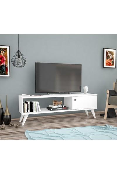 Ankara Mobi̇Lya Yunus Beyaz 120 Cm Tv Sehpası