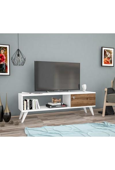 Bena Mobilya Yunus Beyaz 120 Cm Tv Sehpası