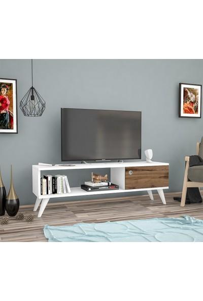 Ankara Mobi̇Lya Yunus Beyaz Çırağan 120 Cm Tv Sehpası