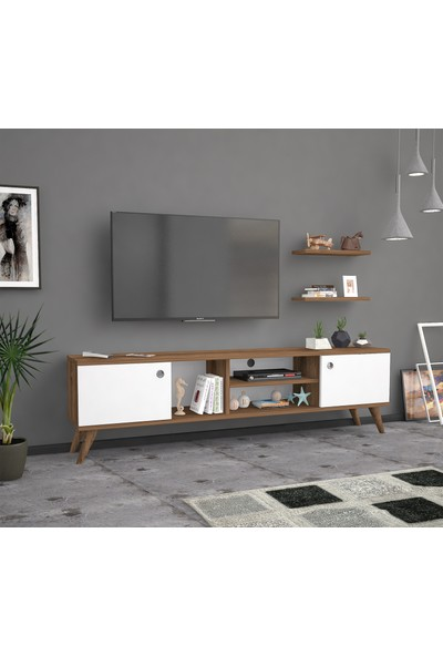 Ankara Mobi̇Lya Poyraz Haliç Beyaz 160 Cm Tv Sehpası