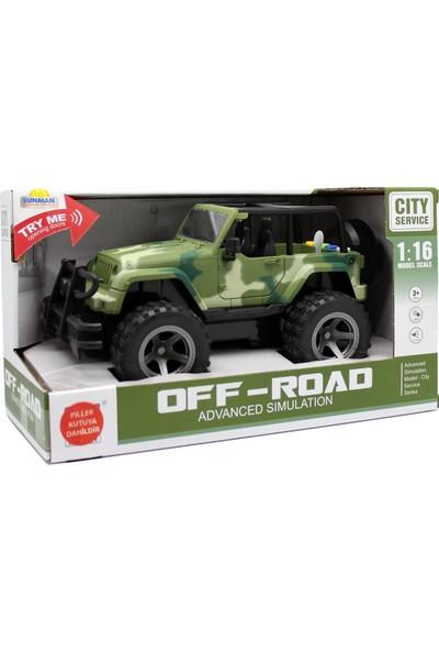 Sunman Jeep Off Road Sesli Işıklı 1/16