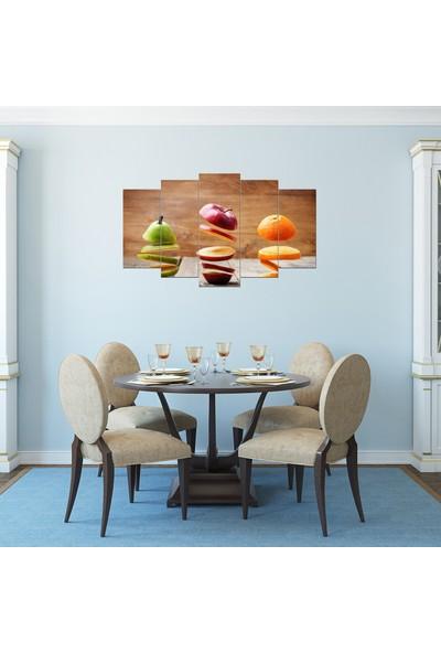 Pastel Tablo Meyve Temalı Dekoratif 5 Parça Mdf Tablo