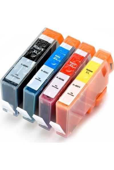 TNR HP 655 Muadil Kartuş Seti Mavi/Kırmızı/Sarı/Siyah 4 Renk