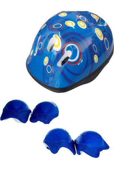 Karakuş Kask Dizlik Dirseklik Set Mavi