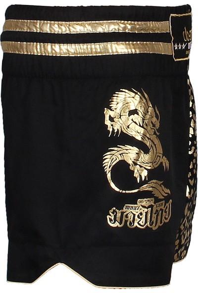 Do Smai Özel Nakışlı Kumaştan Muay Thai Ejdarha Şort