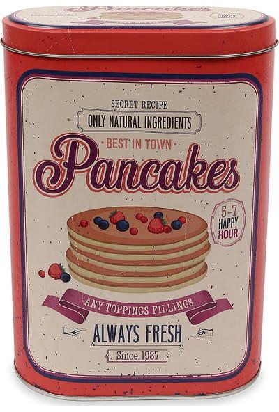 Koopman Metal Çok Amaçlı Saklama Kabı Pancakes 13,5X7,5X19,2CM