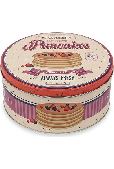 Koopman Metal Çok Amaçlı Saklama Kabı Pancakes Yuvarlak