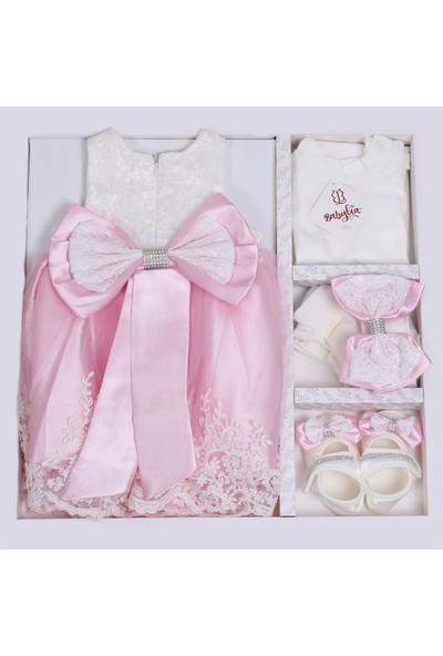 Bebeğime Cici Kız Bebek Pembe Elbise Mevlüt Ve Özel Gün Elbisesi