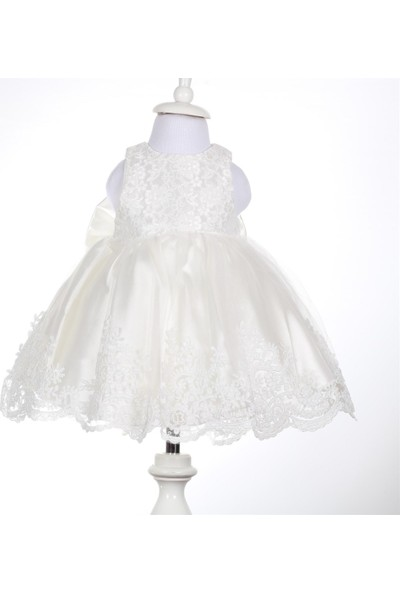 Bebeğime Cici Kız Bebek Beyaz Elbise Mevlüt Ve Özel Gün Elbisesi