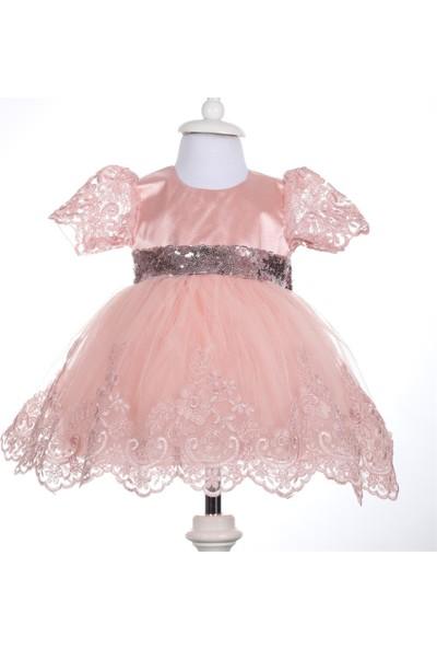 Pugi Baby Kız Bebek Mevlüt ve Özel Gün Takımı Hediyelik Set Kısa Kollu Somon