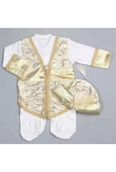 Bebeğime Cici Erkek Bebek Altın Tulumlu Şehzade Mevlüt Takımı