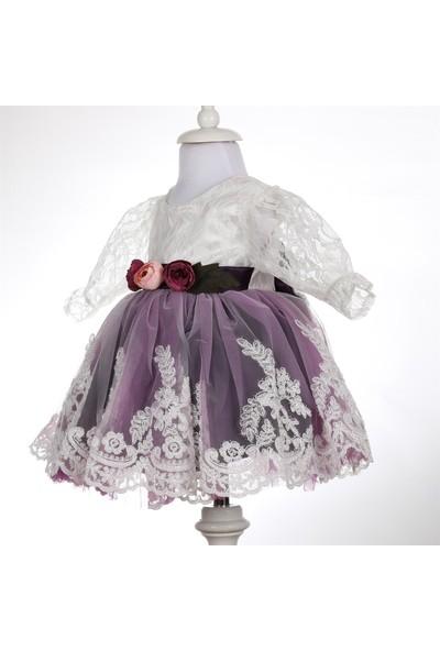 Bebeğime Cici Kız Bebek Kolu Dantelli Mevlüt Elbisesi