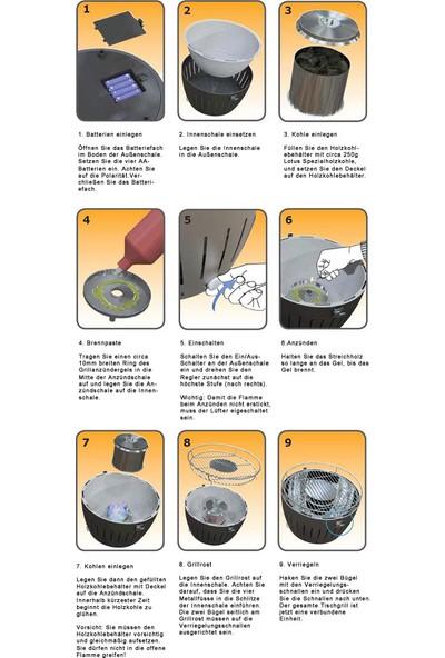 Lotusgrill Xl Dumansız Mangal Seti (Mangal&Çanta&1 Kg Kömür&Jel)