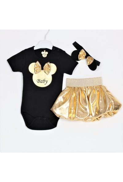 Bebeğime Cici Kız Bebek Etekli 3 Parça Body Takımı