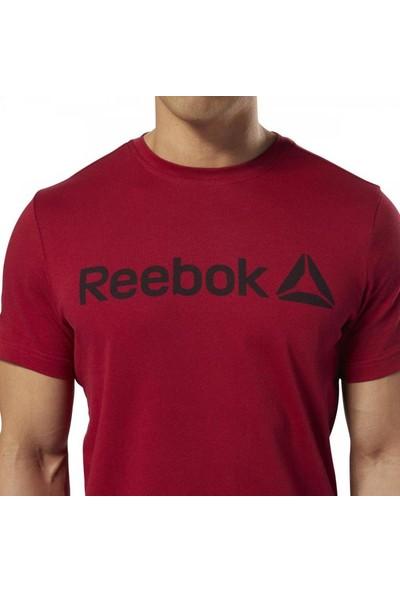 Reebok Dh3782 Erkek Sıfır Yaka Kırmızı Tişört