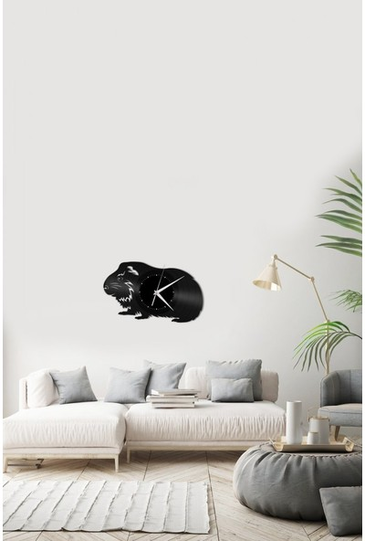 Angemiel HomeÇelik Guinea Pig Saat Duvar Ev Ve Ofis Dekorasyon