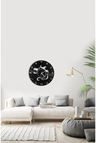 Angemiel Home Aslan Burç AstrolojiÇelik Saat Duvar Ev Ve Ofis Dekorasyon