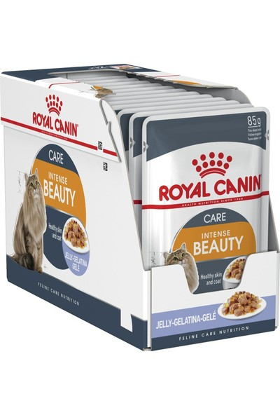 Royal Canin Jelly Intense Beauty Kedi Maması 85 Gr - 12 Adet