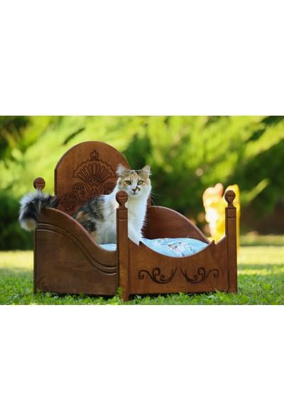 Mandu Özel Tasarım Ahşap Kedi Yatağı