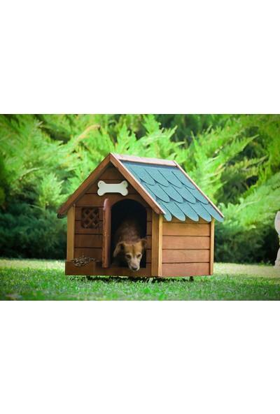 Mandu Isı Yalıtımlı Ahşap Köpek Kulübesi (Medium)