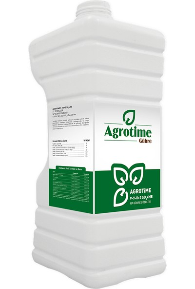 Agrotime 9.9.0 +2 So3+ 0,2 B +0,5 Mn +0,5 Cu 5 Litre